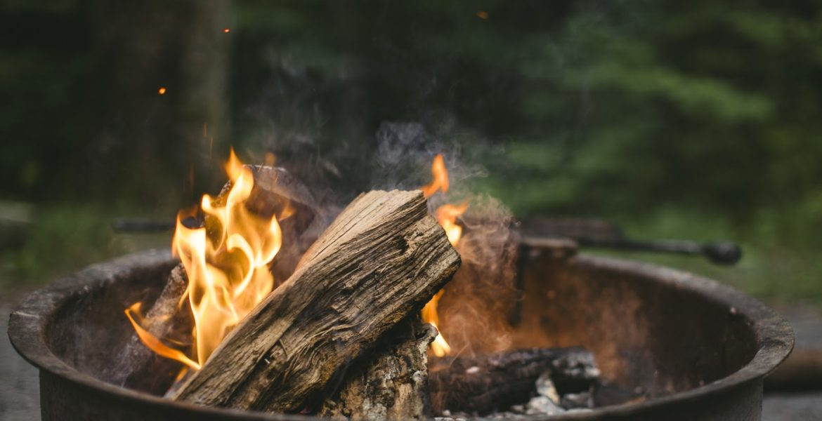 Beige Wood Putted on Fire